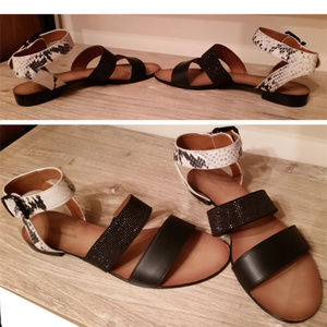 Bcbgeneration leather flat sandals 7.5 great cond